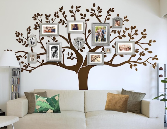 Items Similar To Photo Frame Family Tree Decal Wall