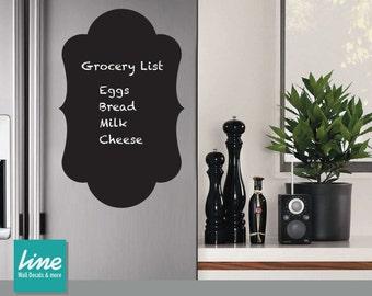 Chalkboard Vinyl Wall Decal - Chalkboard Fridge Decal -