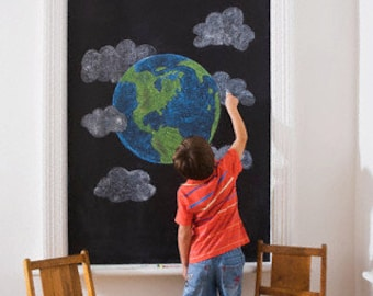 Chalkboard Vinyl Wall Decal - Chalkboard Decal Sheet, Large Chalkboard Wall Decal, Chalkboard Wall