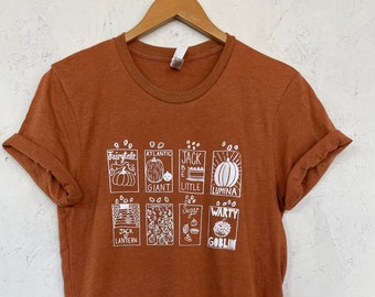 Pumpkin T-Shirt, Halloween Shirt, Pumpkin Seeds, Screen Print Shirt, Foodie Gift, Clothing Gift, Soft Style Tee
