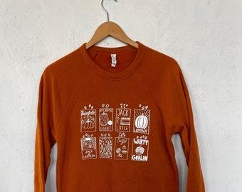 Pumpkin Seeds Sweatshirt, Halloween Sweatshirt, Graphic Sweatshirt