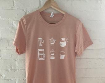 Coffee T-Shirt, Food Shirt, Coffee Screen Printed T Shirt, Clothing Gift, Foodie Gift, Coffee Gift, Soft style tee
