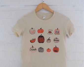 Pumpkin T-Shirt, Halloween Shirt, Food Shirt, Gardening Gift, Soft style tee, Ladies Tee