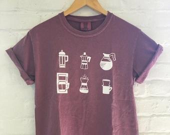 Coffee T-Shirt, Food Shirt, Coffee Screen Printed T Shirt, Clothing Gift, Foodie Gift, Coffee Gift, Comfort Colors