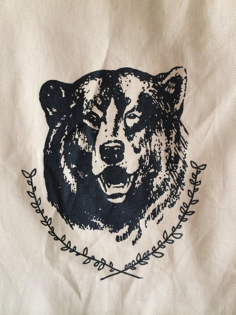 Camping Tote Bear Tote Bag Market Tote Reusable Bag