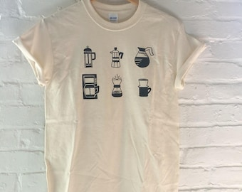 Coffee Shirt, Screen Printed T-Shirt, Coffee Gift, Graphic Tee