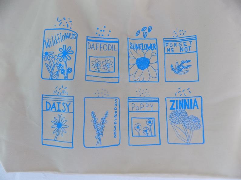 Flower Tote Bag Food Tote Reusable Bag Market Tote Kale Tote