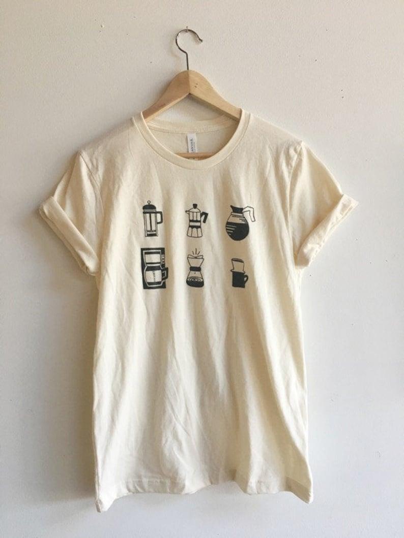 Coffee T-Shirt Food Shirt Coffee Screen Printed T Shirt image 0