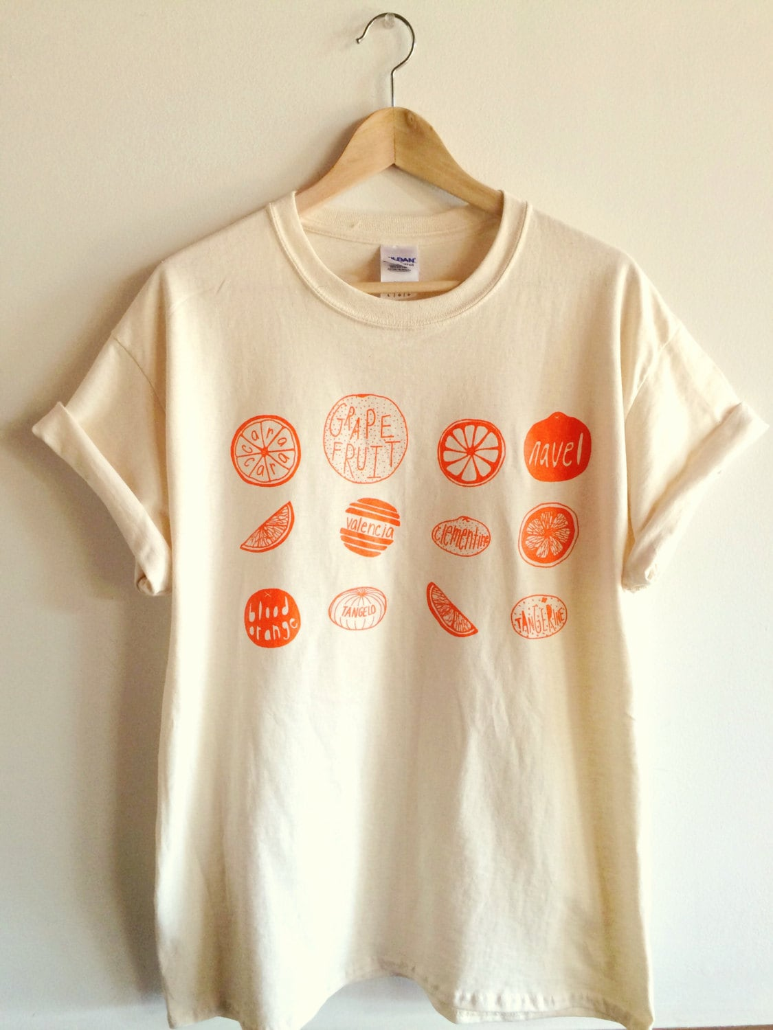 Oranges Food Screen Printed T Shirt Graphic Tee Etsy