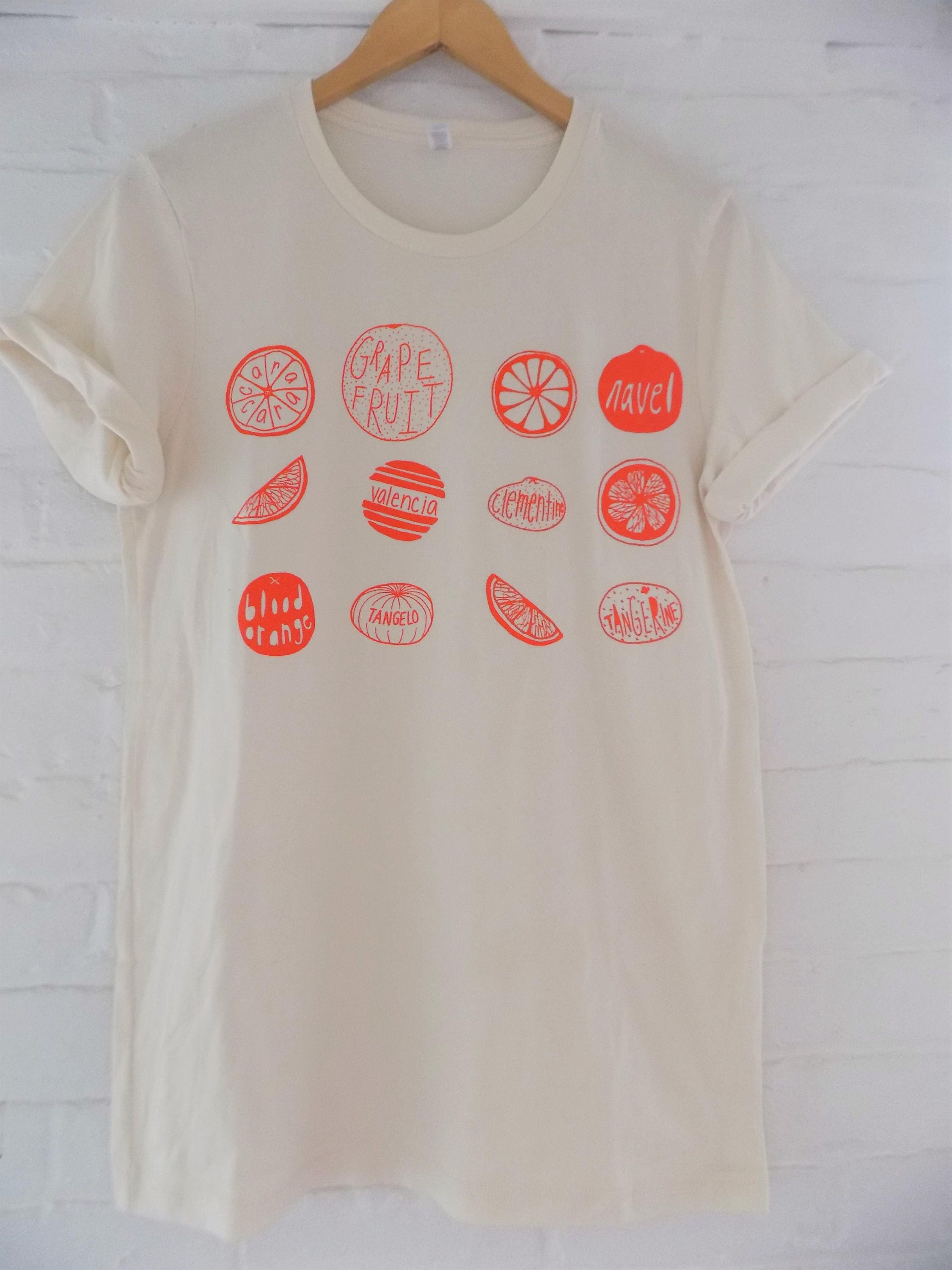 Oranges T Shirt Food Shirt Fruit Shirt Screen Print Shirt Etsy