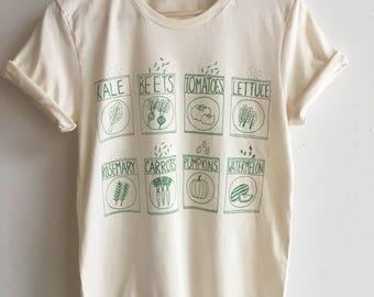 Garden T-Shirt, Kale Shirt, Food Shirt, Foodie Gift, Soft Style Tee