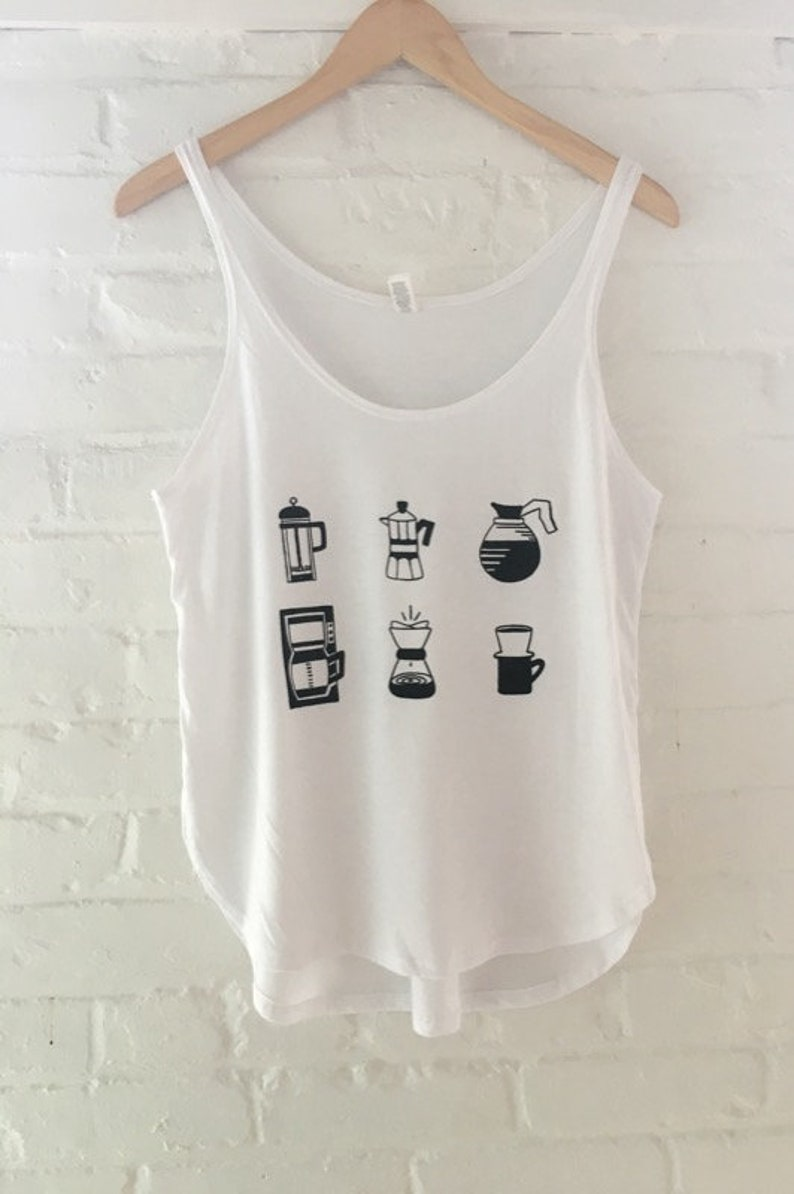 29f1425a632 Coffee Shirt Foodie Tee Screen Printed T Shirt Tank Top | Etsy