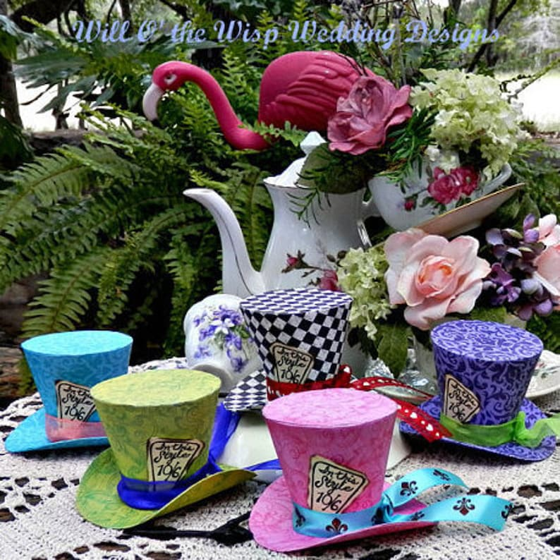 mad hatter hats alice in wonderland party favors photo booth etsy rh etsy com alice in wonderland tea party decorations alice in wonderland party decorations amazon