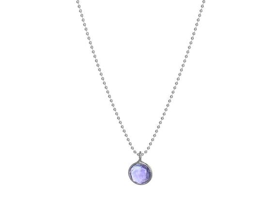 Minimalist Daya Mineral Necklace | Sterling Silver