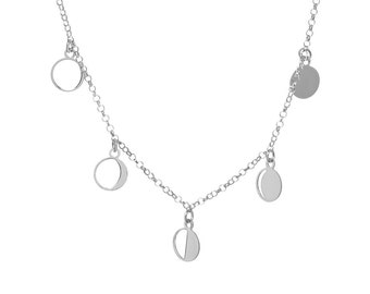 Lunar Phases Necklace ? Sterling Silver