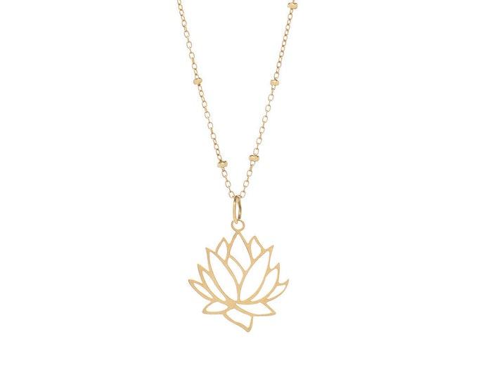 Lotus Flower Necklace | Golden Bath