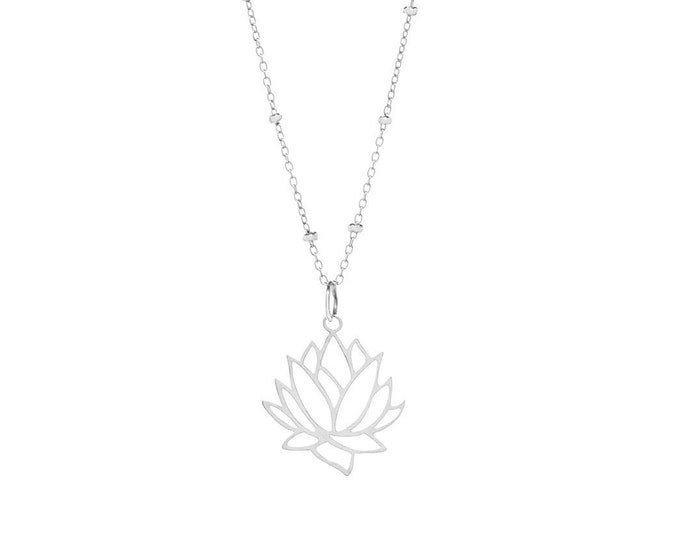 Featured listing image: Lotus Flower Pendant ? Sterling Silver