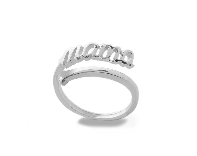 Adjustable Ring Mom | Sterling Silver
