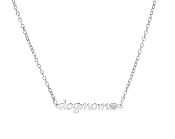 DogMom Necklace   Sterling Silver or Gold Bath