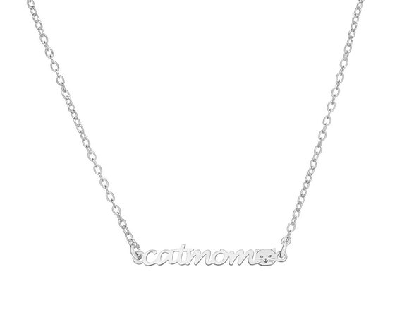 CatMom Necklace   Sterling Silver or Gold Bath