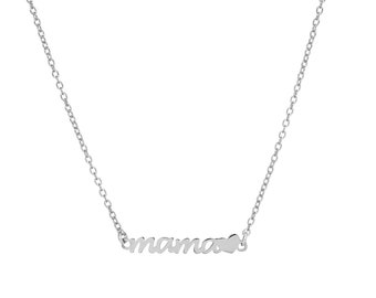 Mom Necklace | Sterling Silver