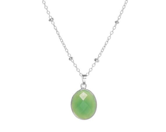 Arya Crisoprasa Necklace | Sterling Silver