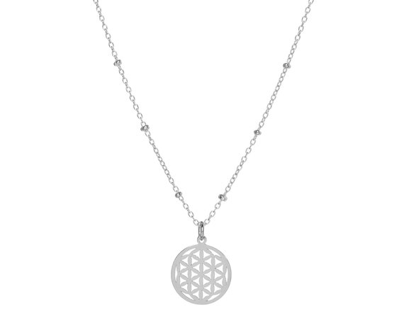Flower of Life Necklace   Sterling Silver