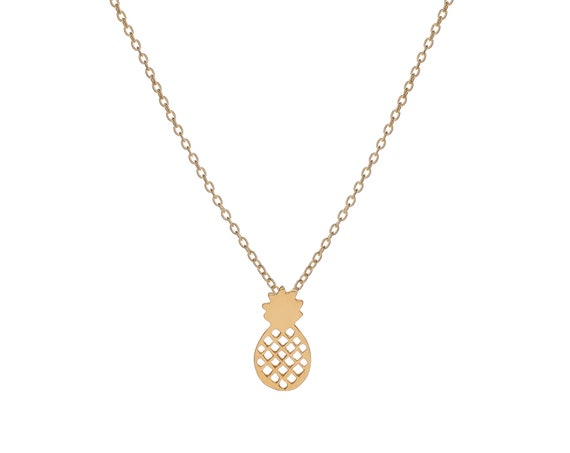 Pineapple necklace   Gold Bath