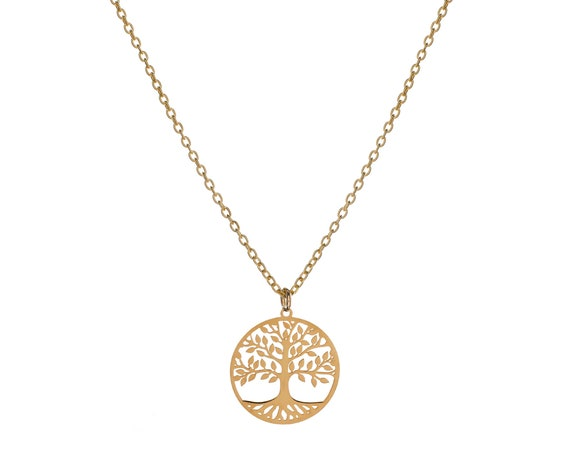 Tree of Life Necklace   Golden Bath