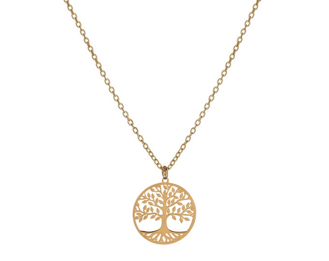 Tree of Life Necklace | Golden Bath