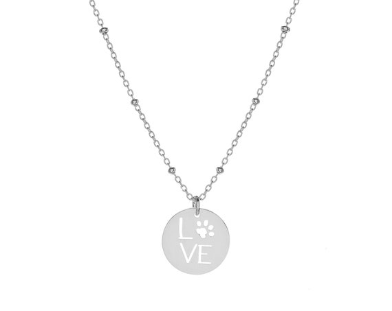 Love Footprint Necklace   Sterling Silver