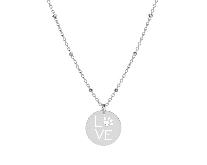 Love Footprint Necklace | Sterling Silver