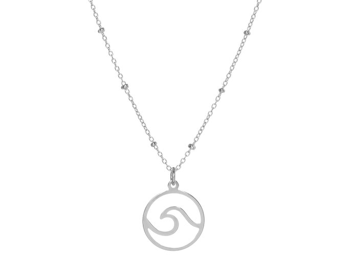 Wave Pendant | Sterling Silver