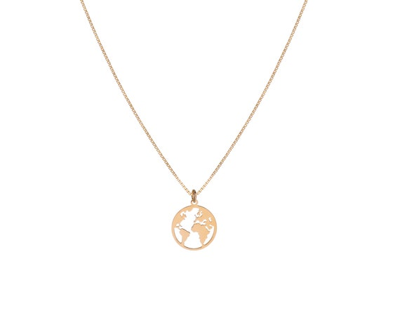 Necklace World Small   Gold Bath