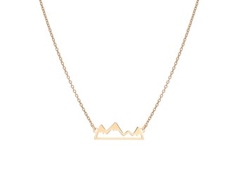 | Mountain Range Necklace Gold Bath
