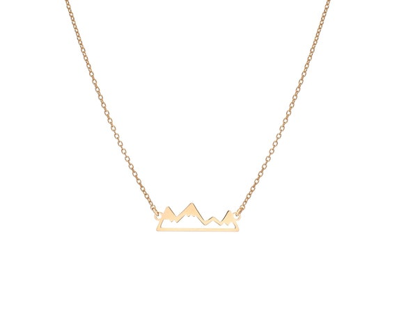   Mountain Range Necklace Gold Bath