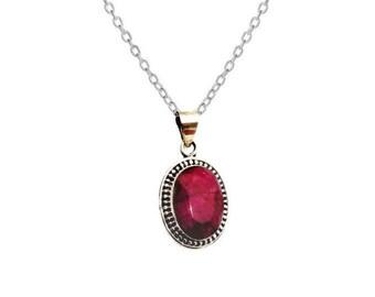 Malika Ruby necklace | Ssread Silver