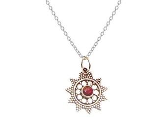 Collar Usha Ruby | Ssread Silver