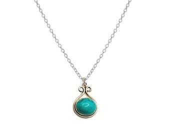 Sagara Turquoise necklace | Ssread Silver