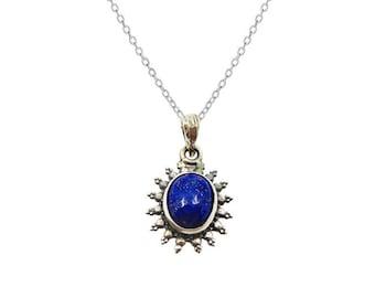 Necklace Saura Lapis lazuli | Ssread Silver