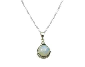 Lalita Piedra Luna necklace | Ssread Silver
