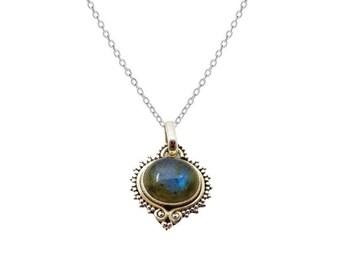 Alisha Labradorita necklace | Ssread Silver