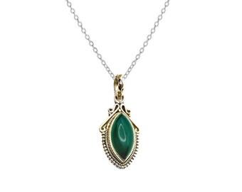 Arwen Aventurina Green necklace | Ssread Silver