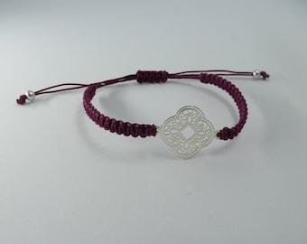 Mandala macramé bracelet ? Sterling Silver