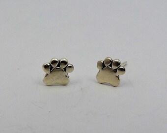 Solidarity Earrings Footprint Sterling Silver