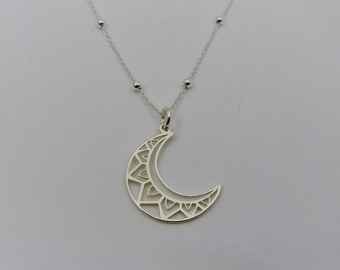 Featured listing image: Boho Moon Pendant ? Sterling Silver