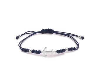 Snake Knot Anchor Bracelet ? Sterling Silver