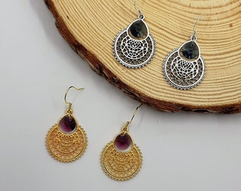 Alhambra Earrings in Silver or Gold Zamak and Swarovski