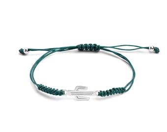 Macramé Cactus bracelet | Ssread Silver