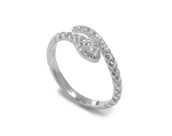 Adjustable Snake Ring | Sterling Silver